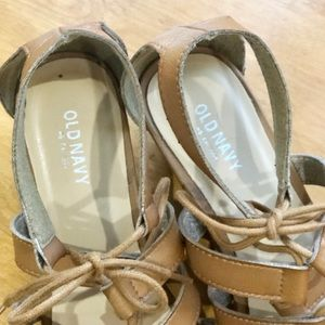 Old Navy Shoes - OLD NAVY Tan Gladiator Sandals, 8
